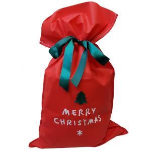 クリスマス・ラッピング袋(リボン付き) 41×70cm/資材購入もOK|buyersnetclub