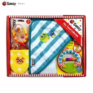 SASSY 出産祝いおくるみセット/ターコイズ:サッシー|buyersnetclub