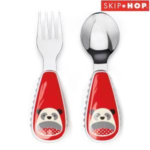 SKIP HOP スキップホップ - アニマル・フォーク&スプーンセット/パンダ|buyersnetclub