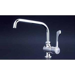 2015新商品/KVK K1802 ワンタッチハンドル付立形自在水栓|buzaiya