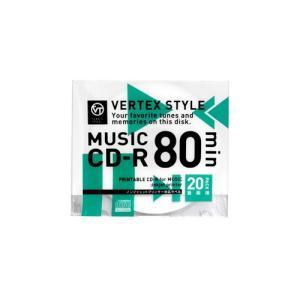 VERTEX CD-R(Audio) 80分 20P インクジェットプリンタ対応(ホワイト) 20CDRA80VX.WP|buzzhobby