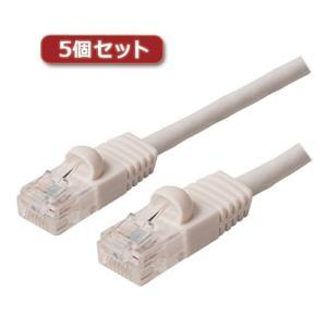 5個セット ミヨシ カテ6ストレ-トLANケーブル 5m ホワイト TWN-605WHX5 buzzhobby