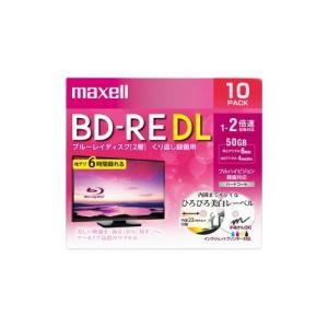maxell BEV50WPE.10S 録画用ブルーレイディスク BD-RE DL ひろびろ美白レーベルディスク(1〜2倍速記録対応)50GB 10枚|buzzhobby
