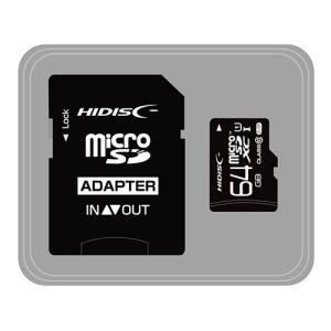 HIDISC microSDHCカード 64GB CLASS10 UHS-1対応 高速転送 Read80 SD変換アダプタ付き HDMCSDX64GCL10UIJP3|buzzhobby