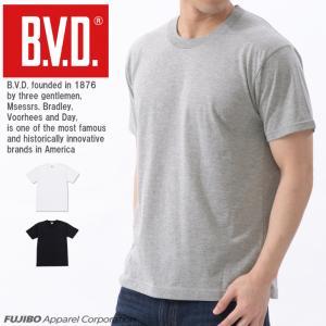 無地 Tシャツ BVD 定番クルーネック半袖 吸水速乾 カジュアル ポイント消化