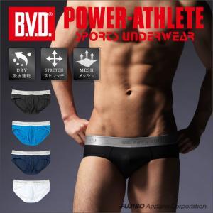 スーパービキニ BVD POWER-ATHLETE テクノファインメッシュ 吸水速乾 ローライズ スポーツアンダーウェア|bvd