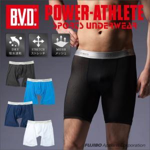 ハーフスパッツ BVD POWER-ATHLETE テクノファインメッシュ 吸水速乾 スポーツアンダーウェア bvd