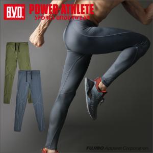 ロングスパッツ BVD POWER-ATHLETE ミディアムハード タイツ スポーツアンダーウェア|bvd