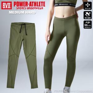 ロングスパッツ タイツ BVD レディース POWER-ATHLETE ミディアムハード  スポーツ|bvd