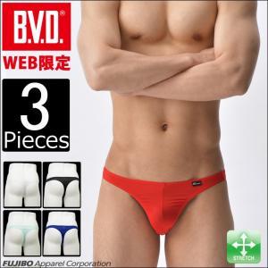 Tバック 3枚セット BVD インゴム メンズインナー アンダーウェア|bvd
