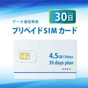 プリペイドSIMカード 30日間プラン データ通信 docomo回線 4G/LTE対応 送料無料 日本 国内 利用|bwi