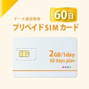 データ通信 sim  プリペイドSIMカード 60日プラン docomo回線  4G/LTE対応 送料無料 日本 国内 利用|bwi