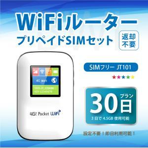 Wifiルーター+プリペイドSIMセット30日プラン 設定契約不要、即日利用可能 SIMフリー ポケットWifi テレワーク 在宅勤務|bwi