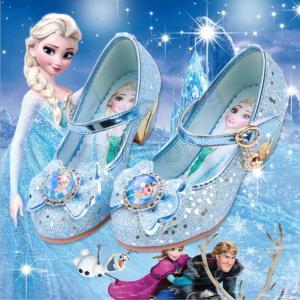 エルサ 子供靴 カートゥーン フォマール靴 女の子 フォーマル シューズ キッズ靴 キラキラ 結婚式...