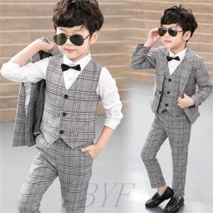 子供 スーツ 3点セット キッズ フォーマル 男の子 子供 フォーマル カジュアル タキシード 結婚...