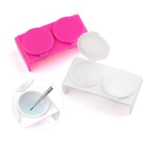 ダッペンディッシュ Wダッペン スカルプチュアの必需品 プラスチック製 蓋付き