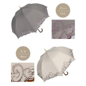日傘 長日傘 女優日傘 UVカット 完全遮光 日傘 1級遮光 遮熱 涼しい 刺繍 晴雨兼用 日傘 スワロフスキー ギフト 母の日 贈り物 c-modern2 17