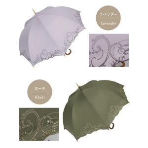 日傘 長日傘 女優日傘 UVカット 完全遮光 日傘 1級遮光 遮熱 涼しい 刺繍 晴雨兼用 日傘 スワロフスキー ギフト 母の日 贈り物 c-modern2 18