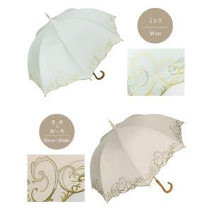 日傘 長日傘 女優日傘 UVカット 完全遮光 日傘 1級遮光 遮熱 涼しい 刺繍 晴雨兼用 日傘 スワロフスキー ギフト 母の日 贈り物 c-modern2 20