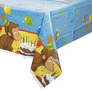 """Curious George Plastic Tablecover ジョージ・プラスチックTablecoverおさる """"♪ハロウィン♪クリスマス♪ c-o-s-shop"""