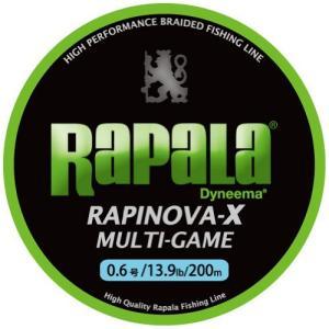 Rapala(ラパラ) PEライン ラピノヴァX マルチゲーム 200m 0.6号 13.9lb 4本編み ライムグリーン RLX200M06LG|c-o-s-shop
