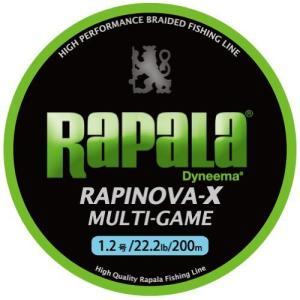 Rapala(ラパラ) PEライン ラピノヴァX マルチゲーム 200m 1.2号 22.2lb 4本編み ライムグリーン RLX200M12LG|c-o-s-shop