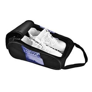 ゴルフシューズケース 型崩れ防止 シューズバッグ メンズ レディース 防水 スポーツ (ブラック+ブルー) c-o-s-shop