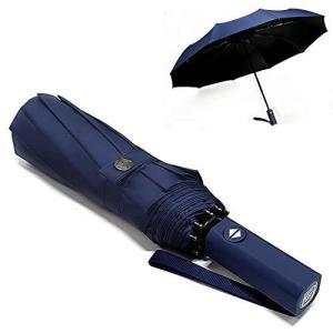 おりたたみ傘 メンズ 晴雨兼用 折り畳み傘 折りたたみ傘 日傘 ワンタッチ 自動開閉 黒とネイビー選択可能 大きい 大きめ 超撥水 梅雨対策 台風対応|c-o-s-shop