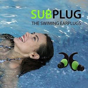 水泳 サーフィン レジャー 着けたまま音が聞こえる 耳栓 Subplug (ブラック)|c-o-s-shop