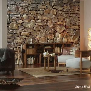 だまし絵 輸入壁紙 クロス ドイツ製壁紙 不織布 フリース壁紙/Stone Wall ストーンウォール XXL4-727|c-ranger