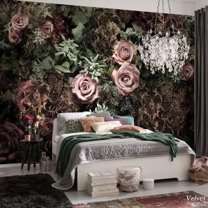 壁紙 おしゃれ 輸入壁紙 のり付き クロス 紙 内装 撮影 ドイツ製 ピンク 薔薇 バラ ローズ 花 花柄 フラワー 植物 [ベルベット] 8-980 c-ranger