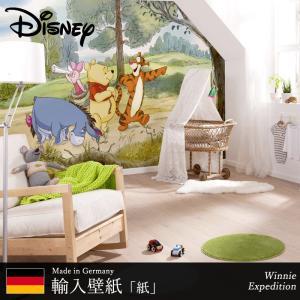 壁紙 ディズニー 輸入壁紙 くまのプーさん Winnie pooh 粉のり付 紙 クロス [Winnie Expedition]4-411 c-ranger