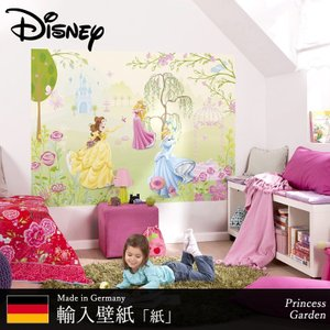 壁紙 ディズニー 輸入壁紙 プリンセス ベル オーロラ姫 シンデレラ 粉のり付 紙 クロス [Princess Garden]1-417 c-ranger