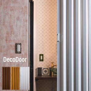 アコーディオンカーテン アコーディオンドア 木目調 おしゃれ デコドア 幅95×高さ174cm|c-ranger