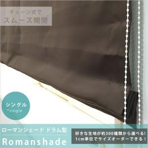 シェード ロールカーテン ローマンシェード ドラム型シングル/巾51〜90 丈151〜200|c-ranger