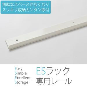 すっきり収納 棚柱 ESラック用 レール 1065mm|c-ranger