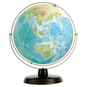 衛星地形地球儀 WP 球径32cm 地勢 スチール台|c-task