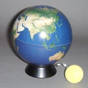 環境地球儀 ブルーテラ 再生紙製 12.5cm 月モデル付|c-task