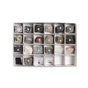 岩石・造岩鉱物標本 22種 18.5×12.5×H3cm|c-task