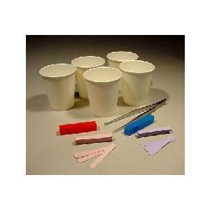 リトマス紙セット 赤・青 各50枚、紙コップ、ピンセット|c-task