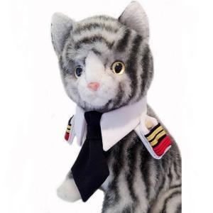 キャットプリン 駅長さんの襟章ネクタイシャツ   1