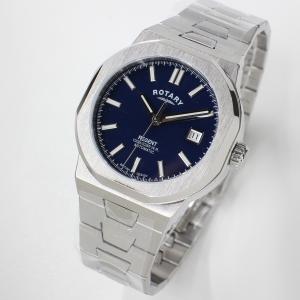 ロータリー ROTARY 時計 REGENT GB05410/05 自動巻き 腕時計 ブルー文字盤 ...