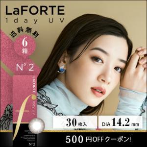 LaFORTE(ラフォルテ) ワンデーUV No.2 ルビーブラウン 30枚入×6箱 /送料無料 /500円OFF /あすつく対応|c100
