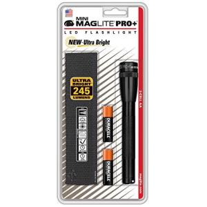 MAGLITE(マグライト) MINIMAG PRO+ ミニマグプロ プラス LED ブラック 【明るさ245ルーメン】 単三電池(AA)2本|cacaoshop