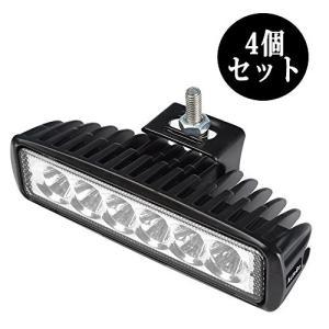 AutoGo LEDワークライト 18W 6LED LED作業灯 LEDライトバー 狭角タイプ 6連10-30VDC対応(12V/24V兼用) 防水・|cacaoshop
