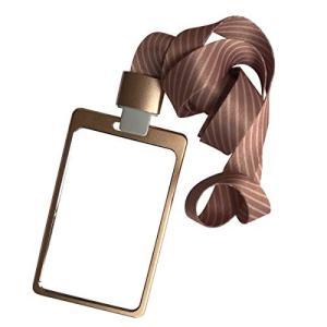RFIDカードホルダー 労働者IDメタルバッジ ネクタイストラップ付き (ゴールデン、 1)|cacaoshop