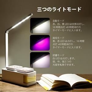 更新されたLEDモードで、光を十分に与える】5個の赤LED、2個の青LEDと10個の白LEDを装備し...