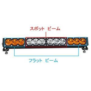 ライトバー オレンジ光と白光 LED ワークライト 12連 120W 車外灯 オフロード 作業灯 高...
