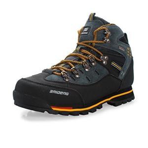[Showlovein] トレッキングシューズ 登山靴 メンズ ウォーキングシューズ ハイキングシューズ 軽量 滑り止め/クッション性/防水/吸汗/通|cacaoshop