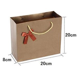 (ウレロ) urello ギフト プレゼント 紙袋 袋 ギフトバッグ クリスマス 誕生日 バースデー ラッピング 5枚セット (カフェ、 M) cacaoshop
